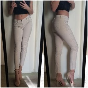 Max Jeans Beige Skinny Jeans Skimmer Ankle Crop 2